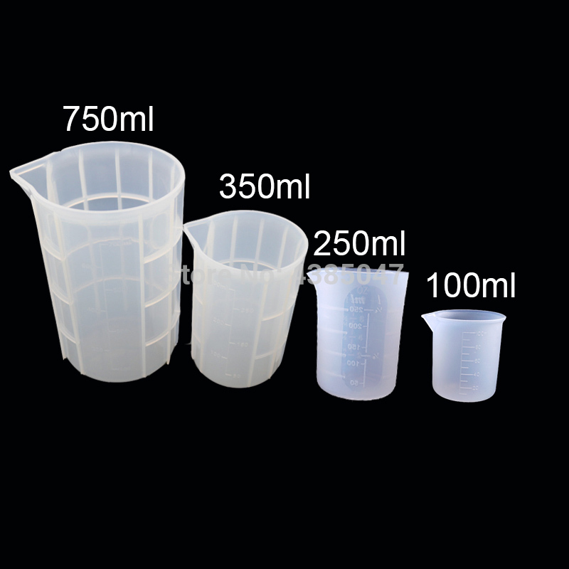 100/250/350/750ml Disposable Silicone Measuring Cup Glue Measuring Tools Scale Jewelry Resin Molds For Jewelry Making Tool