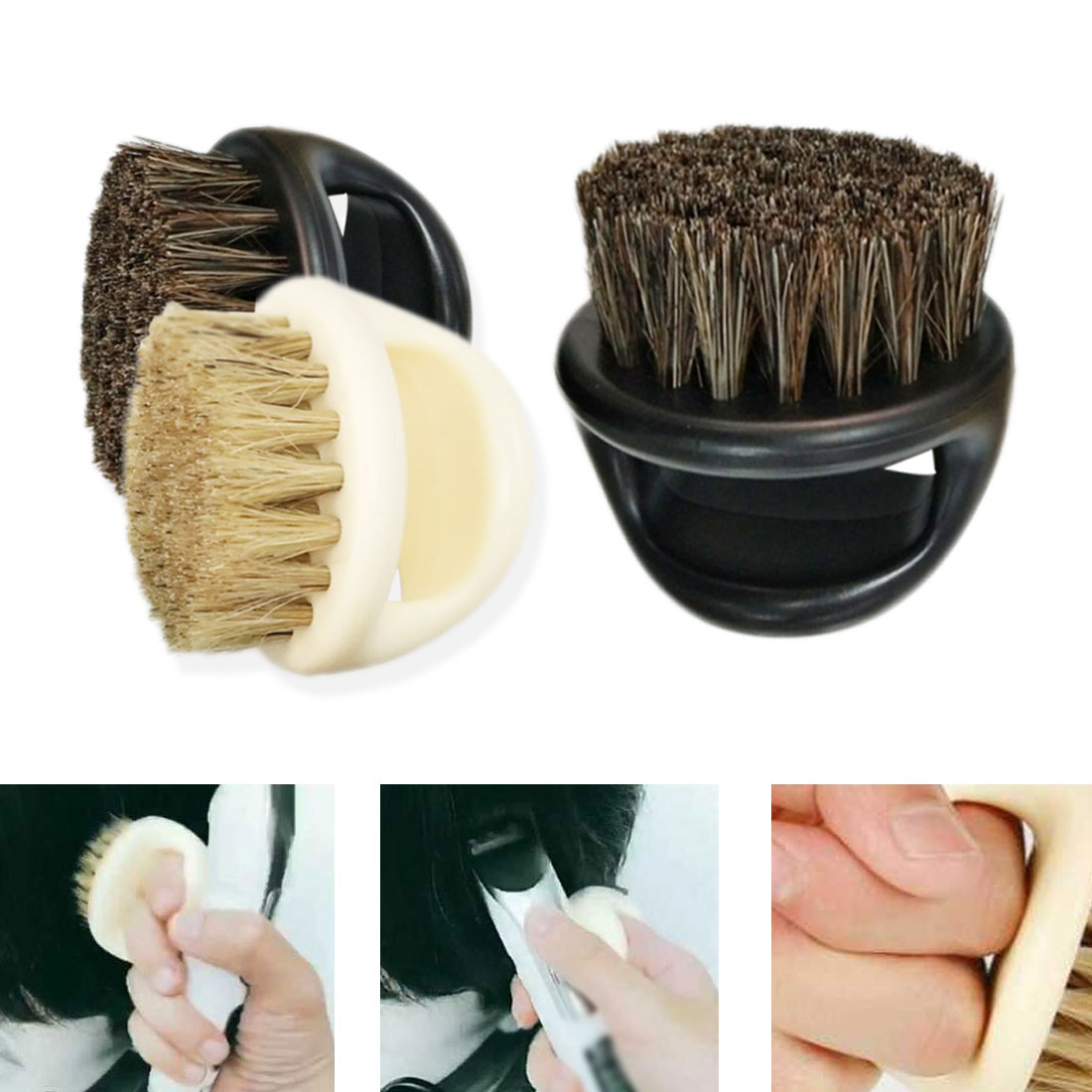 1pcs Finger Brush Beard Comb Hair Salon Salon Special Styling Tools Barber Shop Cleaning Broken Hair Brush
