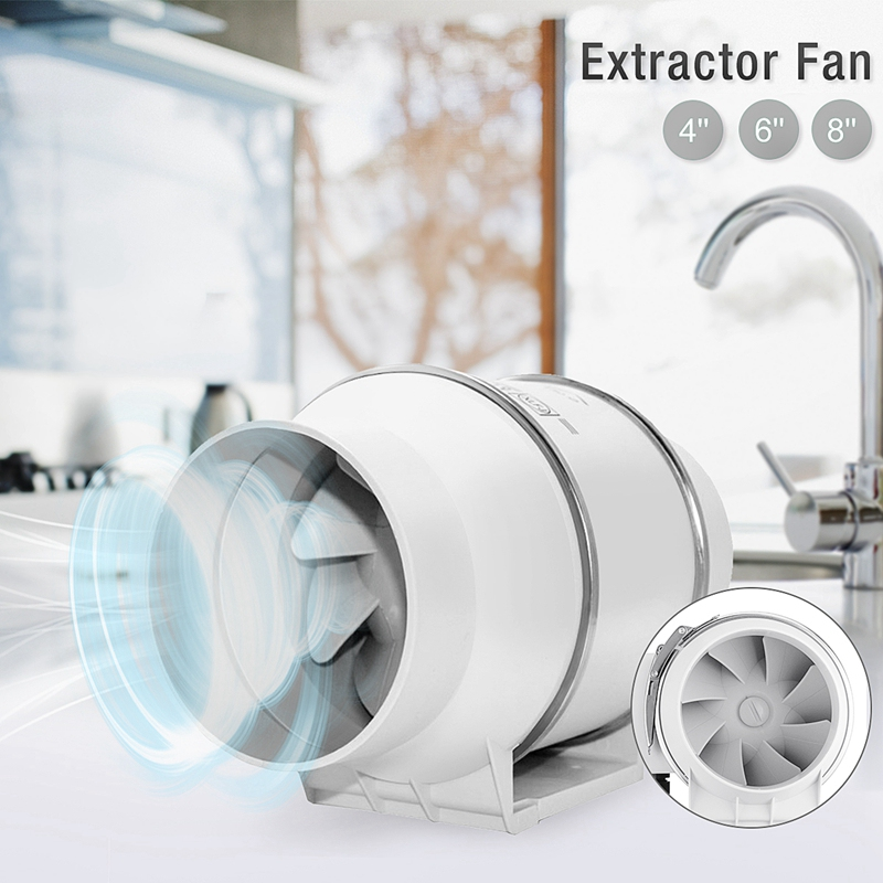 EU Plug 6 Inch Floor-To-Ceiling Windows Bathroom Can Be Installed Exhaust Fan Booster Fan Ventilator Bathroom Disassembly Air Cl
