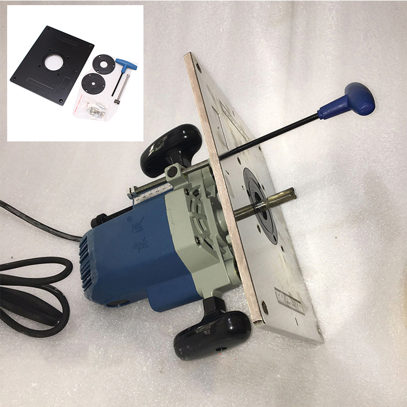 Aluminum Router Table Plate Trimming Machine Flip Plate Engraving Machine DIY Woodworking Bench Router Table Plate No Insert