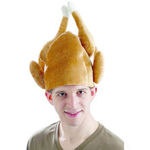 Hot Sale Fashion Casual Roast Turkey Hat Thanksgiving Costume Roast Chicken Raw Poultry Bird Trot Chef Cosplay Costume(China)