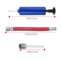 10pcs Ball Pump Set Hand Pump Inflator Portable 6 inch Ball Inflating Pump Tools with Air Hose Air Needle Hand Inflatable Tool