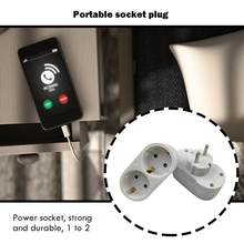 Portable 1 to 2 Socket Adapter Wall Charger Adapter 16A 250V EU Plug Socket Power Outlet Home Improvement Accessories(China)