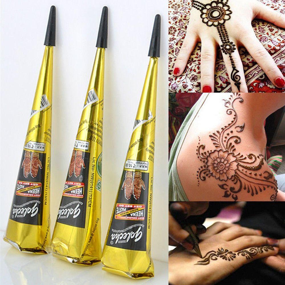 Indian Henna Tattoo Paste Cone Body Paint Temporary Mehndi Henna Tattoo body art Sticker Mehndi Body Paint DIY Tattoo Sticker