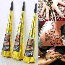 Henna indiano tatuagem colar cone pintura corporal temporária mehndi henna tatuagem arte do corpo adesivo mehndi pintura corporal