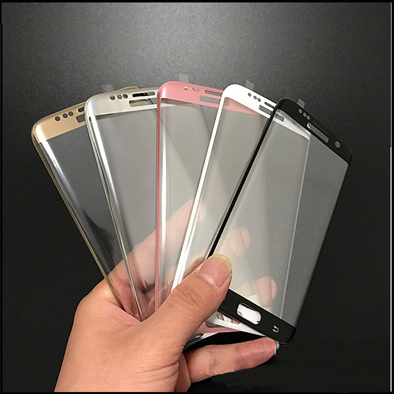 3D Full Curved Screen Protector Tempered Glass For Samsung Galaxy S7Edge S7 Edge (10pcs)