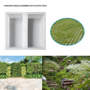 DIY Courtyard แผนที่ทางเท้าหินแม่พิมพ์ PATH ทางเดินสวนคอนกรีตอิฐแม่พิมพ์ใช้ Heavy แม่พิมพ์พลาสติกสวน Stepping ...