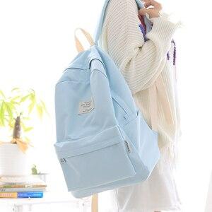Image 1 - Nufangu design simples oxford coréia estilo feminino mochila moda meninas lazer saco escolar estudante livro adolescente viagem útil