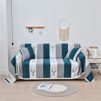 Chenille Sofa Cover Nordic elk Slipcover For Living Room Universal Furniture Protector Couch Cover Armchair Sofa towel Thicken