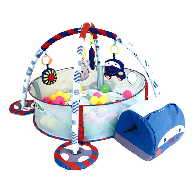 Interesting Animal Shape Baby Fitness Frame Multifunctional Baby Crawling Mat Ocean Ball Pool Game Blanket
