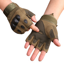 Men's Tactical Gloves Military Army Fingerless Gloves Outdoor Sports Anti-Slip Shooting Paintball Airsoft Bicycle Gloves(China)