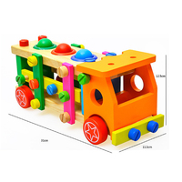 Disassembly Screw Nut Vehicle Car Multifunctional Model Building Kits Educational Wooden Toy Developmental Christmas Toys Gift