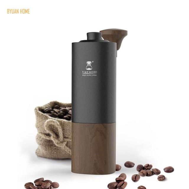 1 PC Timemore G1 MYY47 Aerolite נייד פלדת ליבת טחינה באיכות גבוהה ידית עיצוב סופר ידנית קפה מיל Dulex נושאות