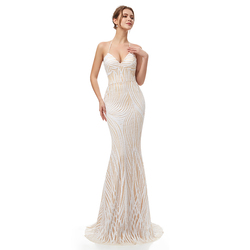 Sexy Backless Prom Dresses Halter Neck Mermaid Long Sequins Floor Length Party Evening Gowns Cheap In Stock