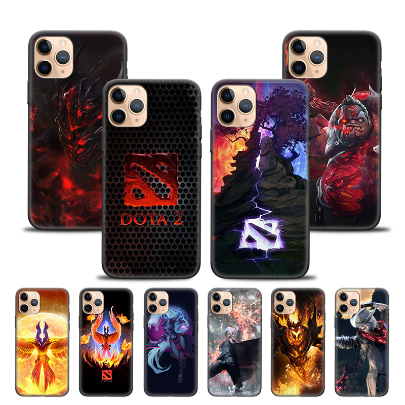 Case Cover For Iphone XR X XS MAX 6S 6 7 8 Plus 5 5S SE 11 11Pro 11Promax 7+ 8+ Phone Back Shell Game Dota 2 Logo