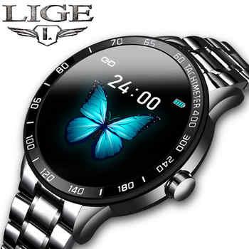 LIGE Smart Watch uomo Fitness Tracker IP67 impermeabile frequenza cardiaca pedometro pressione sanguigna per Android ios sport smartwatch + Box