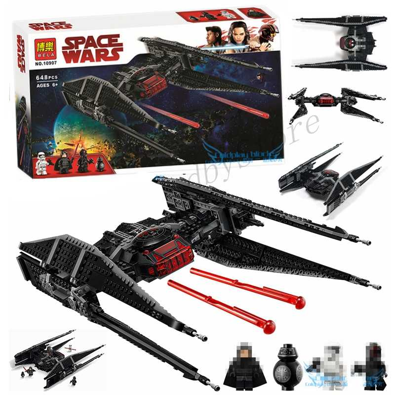 Starwars Kyol Ren/'s Tie Fighter Compatible Lego 75179 New Bulding Block set Gift