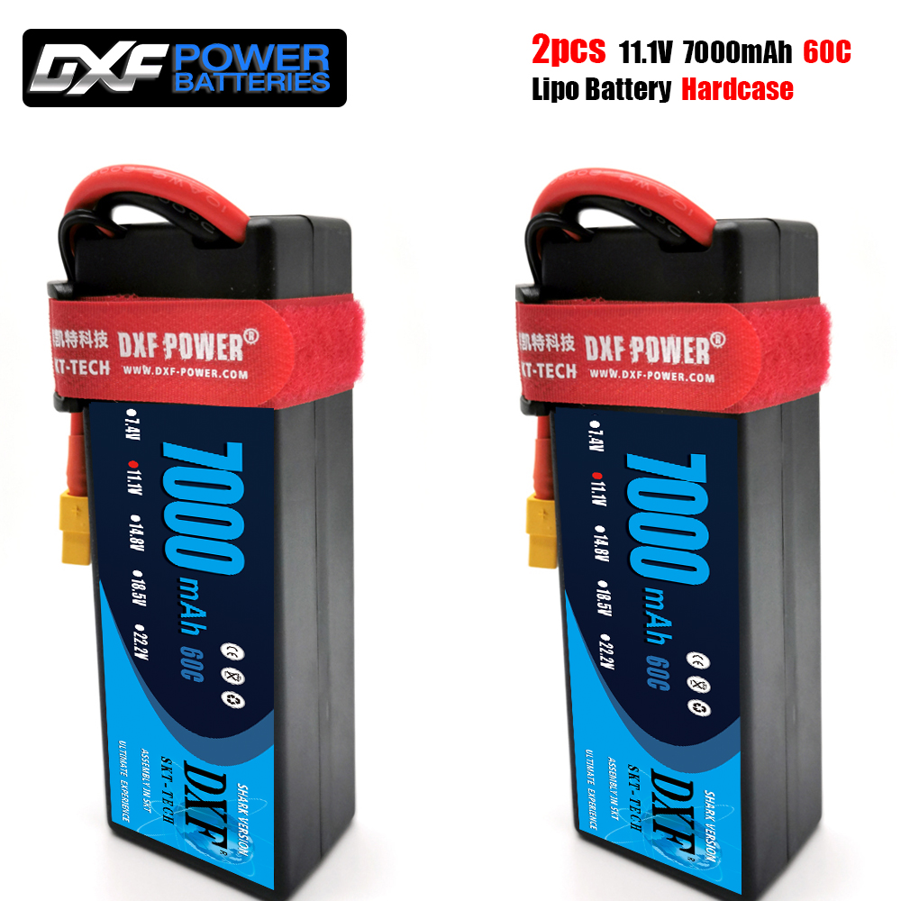 DXF lipo Battery 3S 11.1V 7000mAh 60C/120C XT60 T Plug HardCase Lipo Battery for RC HPI HSP 1/8 1/10 Buggy RC Car Truck image