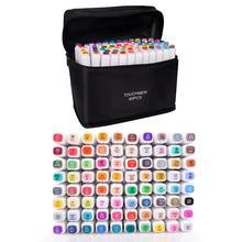 Marcador do álcool das fontes da arte da ponta dupla das cores da pena touchfive 48/60/80/168 para desenhar esboçar o adulto e as crianças para a animação