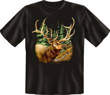 T-shirt Hirsch Chasseur Forester Fun Haut Cadeau DAnniversaire Cornee Imprime