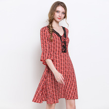 Large size office lady dress 2019 autumn new fashion floral print ruffle sleeve Korean style women Style plus work