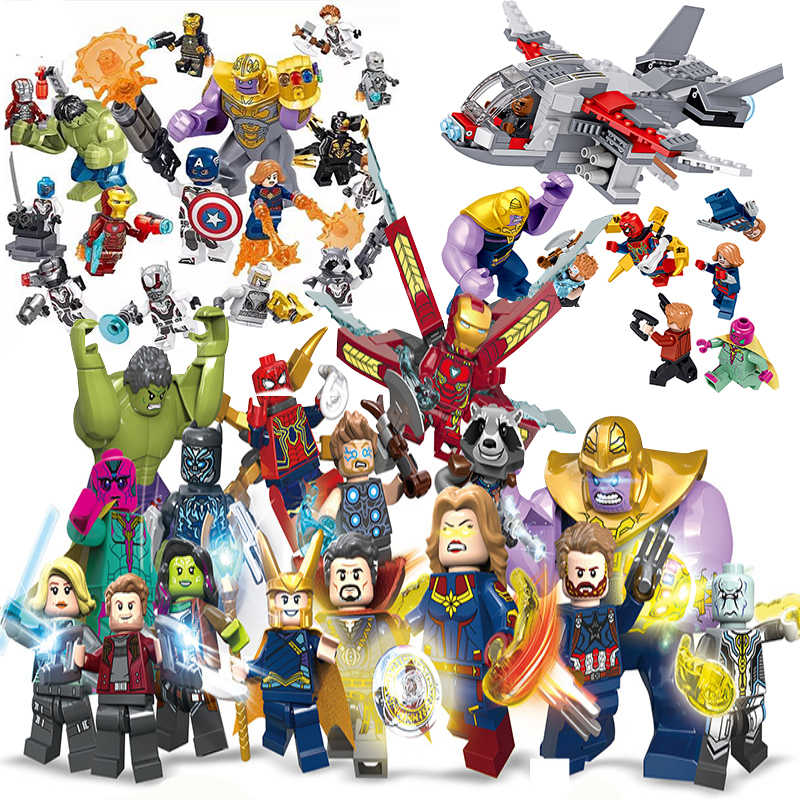 Decool Compatibile Legoinglys Marvel Avengers Minifigured 4 Endgame Infinity War Super Heroes Building Blocks Supereroi Giocattoli