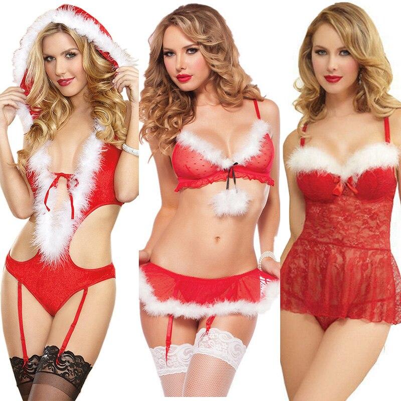 Women Porno Lingerie Sexy Hot Erotic Underwear Christmas Costume Lace Sexy Lady Dress Babydoll Exotic Apparel Chemise Sleepwear