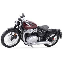 Bburago 1:18 Triumph Bonneville поплавок статические литые транспортные средства Коллекционная модель мотоцикла, игрушки