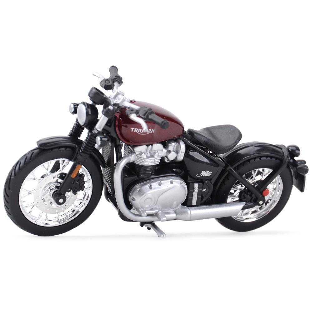 Bburago 118 triumph bonneville bobber estática morrer fundido veículos collectible motocicleta modelo brinquedos