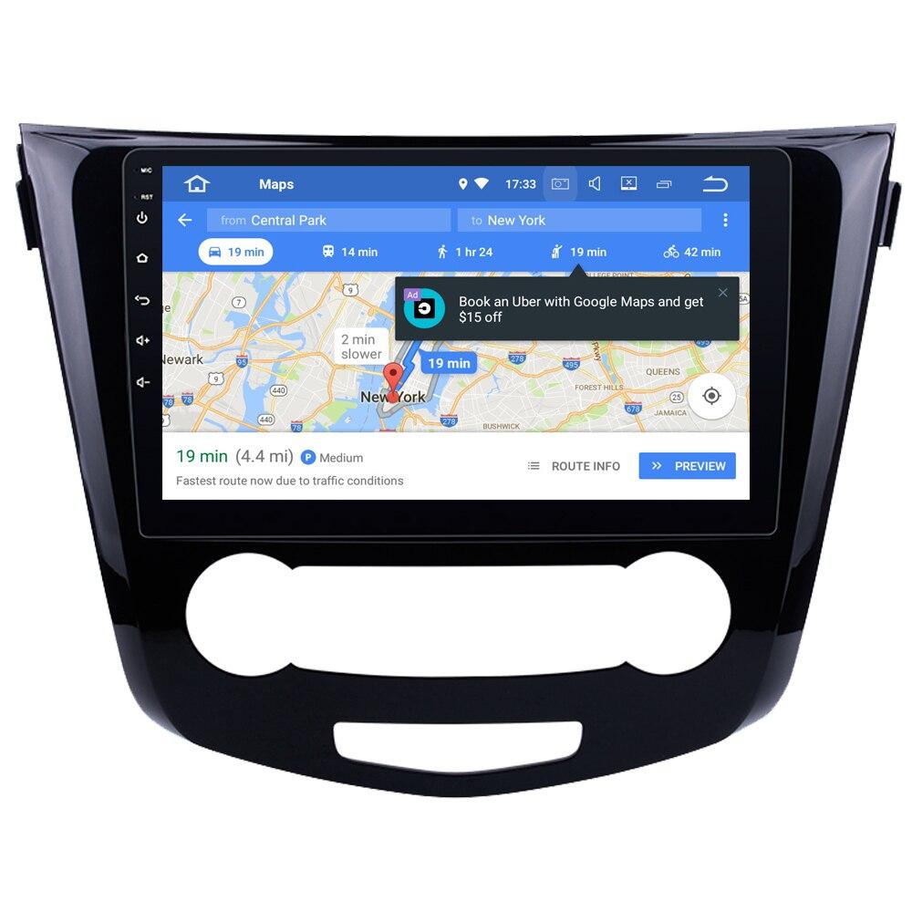 Lecteur multimédia de voiture pour Nissan Qashqai 2015 2016 Android 8.1 Auto pièces de rechange accessoires style Tuning MirrorLink