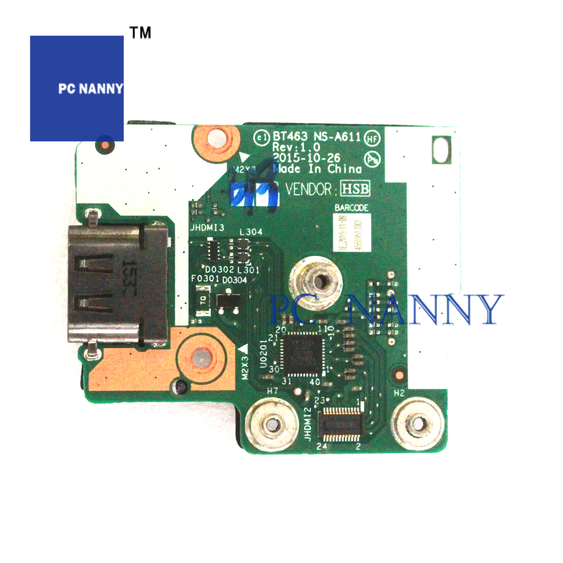 Computador babá para lenovo thinkpad t460p t470p portátil placa de botão energia NS-A611 trabalhos