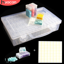 HUACAN 64pcs Diamond Embroidery Box Painting Tool Jewelry Drill Plastic Storage Gift Accessory Mosaic Convenience