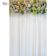 цена Yeele Wedding Ceremony 3D Flower Curtain Customized Photography Backdrops Personalized Photographic Backgrounds For Photo Studio