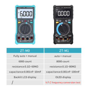Image 2 - ZOYI ZT M1 ZT M0 Dual mode true RMS digital multimeter AC and DC voltage current temperature frequency better than ZT X RM409B