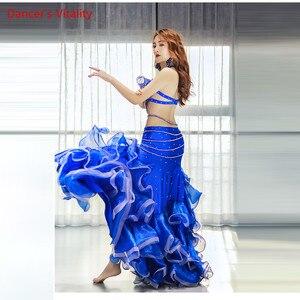 Image 3 - Belly Dance Performance Clothing Women Sense New Long Skirt Suit Oriental Dance Competition Suit