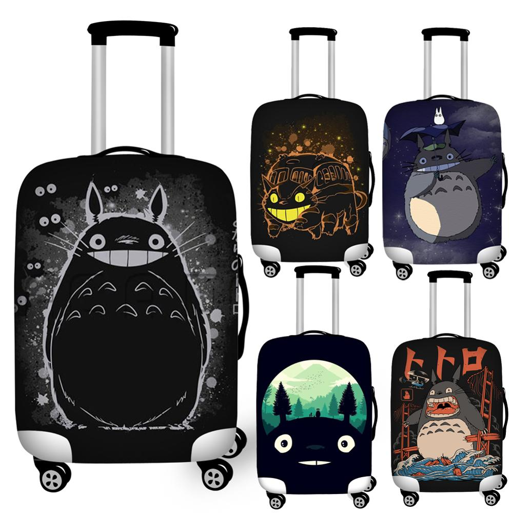 Cartoon Anime My Neighbor Totoro Luggage Cover Waterproof 18''-32'' Travel Suitcase Protective Dust Covers Elastic Baggage Cover