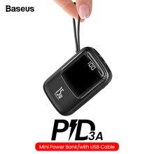 Baseus Mini 10000mAh Power Bank USB C PD Portable Charger Sm