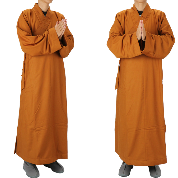 Winter Warmth Monk Costume Male Winter Thick Monk Clothes Female Gown Meditation Clothing Cotton-padded Jacket Kung Fu Zen Robe