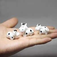 3 uds./vaca/conejos/gatos/decoración para casa de muñecas/miniaturas de fantasía/Gnomo de jardín Hada/terrario con musgo/artesanías/bonsái/figurillas/suministros diy
