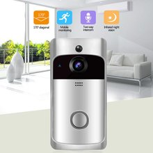 Video Doorbell Smart Wireless Wifi Security Doorbell Visual Recording Home Monitor Night Vision Intercom Door Phone leshp 7inch recording video door phone intercom doorbell with 8g tf card touch button remote unlock night vision security camera