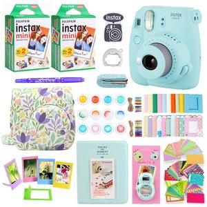 Image 2 - Fujifilm Instax Mini 9 fotocamera per stampa fotografica istantanea con 40 fogli Mini pellicola per fotocamera borsa a tracolla borsa accessori Bundle