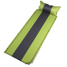 Outdoor Camping  Mat Automatic Inflatable Mattress Ultralight Air Bed Pillow Portable Moisture-proof Camp Tent Sleeping Pad