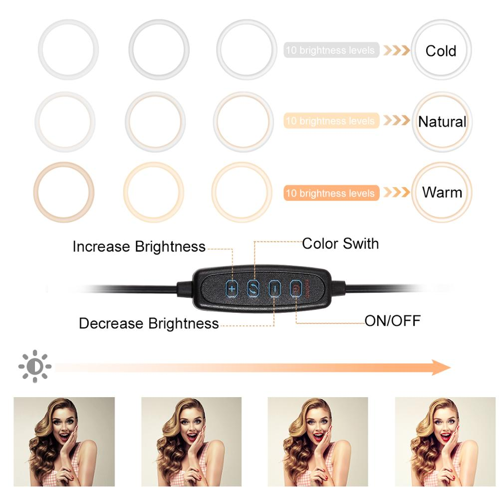 Rovtop 10 Inch Selfie Ring Light with Ring Stand for iPhone Tripod and Phone Holder for Video Photography 1