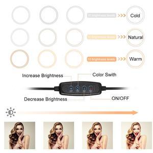 Image 2 - 스탠드 Rovtop LED 카메라와 함께 10.2 인치 링 라이트 아이폰 삼각대와 비디오 사진에 대한 전화 홀더에 대한 Selfie 라이트 링