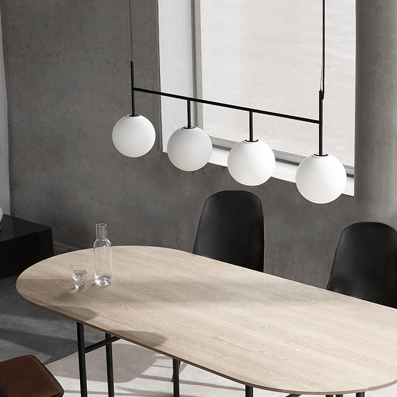 Modern Pendant Lights Iron Art Deco Glass Hanging Lamp Dining Room Ceiling Mounted Suspended Lights Restaurant Lighting Fixtures