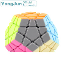 YongJun RuiHu Megaminxeds 3x3x3 Magic Cube YJ Dodecahedron 3x3 Speed Puzzle Antistress Educational Toys For Children yongjun diamond symbol 3x3x3 magic cube yj 3x3 professional neo speed puzzle antistress fidget educational toys for children