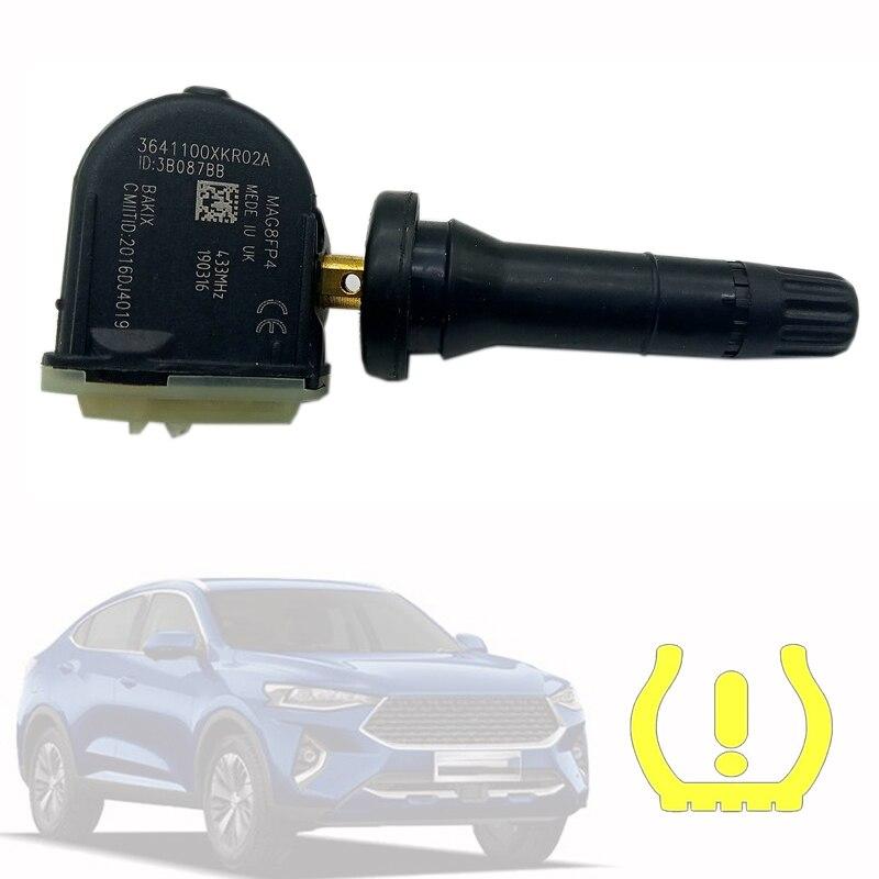 1PCS TPMS Tire Pressure Sensor 433MHZ 3641100XKR02A  For GREAT WALL HAVAL 2019 F7 H6 WEY VV5 VV6 VV7 tire sensor crysler
