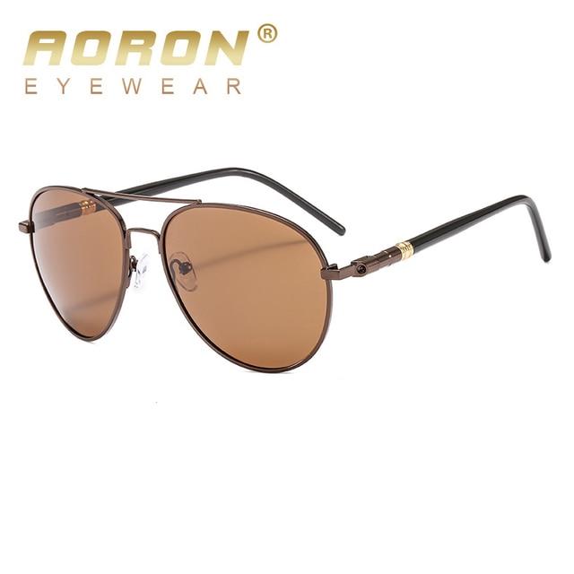 AORON Men Polarized Sunglasses Retro Classic Pilot Glasses Brand Goggoles Leisure UV400 Protection Metal Frame Oculos de sol 4