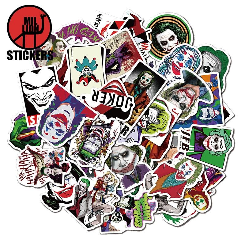 25/50Pcs Joker Stickers For DIY Luggage Phone Laptop Bag Graffiti Stickers Waterproof DIY Decals
