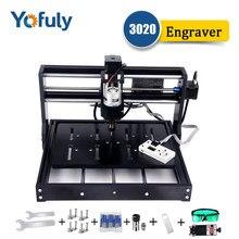 Cnc 3020 máquina de gravura 3018 pro atualizado com controlador offline diy cnc gravador a laser madeira roteador pcb mini fresadora